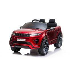 Elektrické autíčko Range Rover EVOQUE, Jednomiestne, červené lakované, Kožené sedadlá, MP3 Prehrávač s prípojkou USB/SD, Pohon 4x4, Batéria 12V10AH, EVA kolesá, Odpružené nápravy, Kľúčové trojpolohové štartovanie, Bluetooth Dialkový Ovládač, Licencia