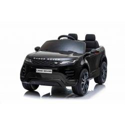 Elektrické autíčko Range Rover EVOQUE, Jednomiestne, čierne, Kožené sedadlá, MP3 Prehrávač s prípojkou USB/SD, Pohon 4x4, Batéria 12V10AH, EVA kolesá, Odpružené nápravy, Kľúčové trojpolohové štartovanie, 2,4 GHz Bluetooth Dialkový Ovládač, Licencia