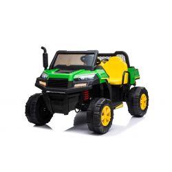 Farmárske elektrické autíčko RIDER 4X4 s pohonom všetkých kolies, 2x12V batéria, EVA kolesá, široké dvojmiestne sedadlo, Odpružené nápravy, 2,4 GHz Diaľkový ovládač, Dvojmiestne, MP3 prehrávač so vstupom USB/SD, Bluetooth