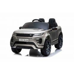 Elektrické autíčko Range Rover EVOQUE, Jednomiestne, Šedé lakované, Kožené sedadlá, MP3 Prehrávač s prípojkou USB/SD, Pohon 4x4, Batéria 12V10AH, EVA kolesá, Odpružené nápravy, Kľúčové trojpolohové štartovanie, 2,4 GHz Bluetooth Dialkový Ovládač, Licencia