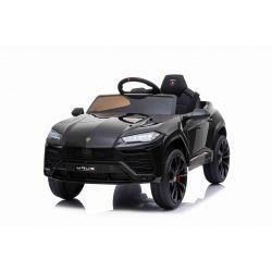 Elektrické autíčko Lamborghini Urus, 12V, 2,4 GHz dialkové ovládanie, USB / SD Vstup, odpruženie, otváravé dvere, mäkké EVA kolesá, 2 X MOTOR, čierna, ORIGINAL licencia