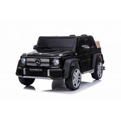 Elektrické autíčko Mercedes G650 MAYBACH, 12V, 2,4 GHz dialkové ovládanie, USB / SD Vstup, odpruženie, 12V batéria, mäkké EVA kolesá, 2 X MOTOR, čierne, ORIGINAL licencia