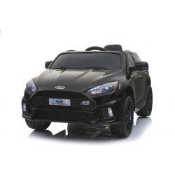 Elektrické autíčko Ford Focus RS, Čierne, 12V, EVA kolesá, čalúnené sedadlo, 2,4 GHz DO, 2 X MOTOR, USB, Radio