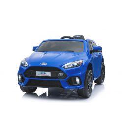 Elektrické autíčko Ford Focus RS, Modré, 12V, EVA kolesá, čalúnené sedadlo, 2,4 GHz DO, 2 X MOTOR, USB, Bluetooth, Radio