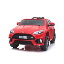 Elektrické autíčko Ford Focus RS, Červené, 12V, EVA kolesá, čalúnené sedadlo, 2,4 GHz DO, 2 X MOTOR, USB, Radio