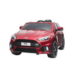 Elektrické autíčko Ford Focus RS, Červené Lakované, 12V, EVA kolesá, čalúnené sedadlo, 2,4 GHz DO, 2 X MOTOR, USB, Bluetooth, Radio