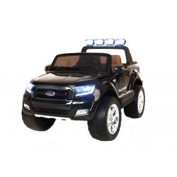 Zánovné elektrické autíčko Ford Ranger Wildtrak 4X4 LCD Luxury, LCD obrazovka, Pohon 4x4, 2 x 12V, EVA kolesá, čalúnené sedadlo, 2,4 GHz DO, kľúč, 4 X MOTOR, Dvojmiestne, Čierne, Bluetooth, USB, SD karta, ORGINAL licencia