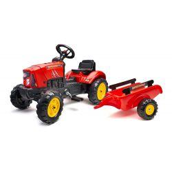 FALK Šliapací traktor 2030AB SuperCharger s vlečkou a otváracou kapotou