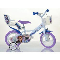 """DINO Bikes - Detský bicykel 12"""" 124RLFZ3 so sedačkou pre bábiku a košíkom - Frozen 2 2019"""