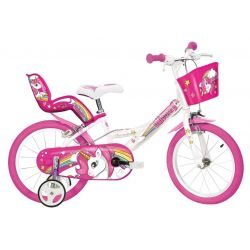 "DINO Bikes - Detský bicykel 14"" 144 RUN Jednorožec 2019"