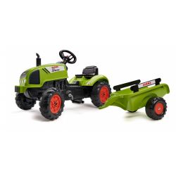 FALK Šliapací traktor 2041C Claas Arion s vlečkou a otváracou kapotou