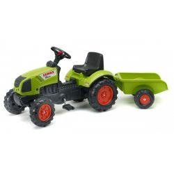 FALK Šliapací traktor 2040A Claas Arion s vlečkou