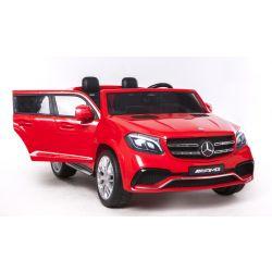 Elektrické autíčko Mercedes-Benz GLS 63 červené, Pohon 4x4, 2x12V, EVA kolesá, široké dvojmiestne čalúnené sedadlo, 2,4 GHz DO, 4 X MOTOR, Dvojmiestne, vstup pre USB, SD kartu