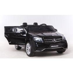 Elektrické autíčko Mercedes-Benz GLS 63 čierne, Pohon 4x4, 2x12V, EVA kolesá, široké dvojmiestne čalúnené sedadlo, 2,4 GHz DO, 4 X MOTOR, Dvojmiestne, vstup pre USB, SD kartu