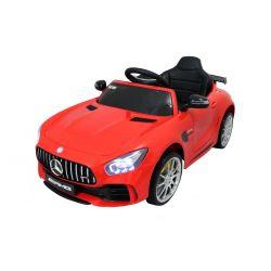Elektrické autíčko Mercedes-Benz GTR, 12V, 2,4 GHz dialkové ovládanie, odpruženie, otváravé dvere, mäkké EVA kolesá, kožené sedadlo, 2 X MOTOR, červené, ORGINAL licence