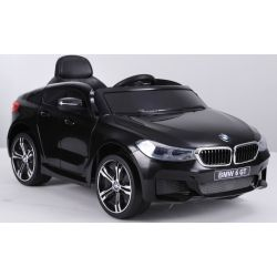 Elektrické autíčko BMW 6GT –  čierne, jedno sedadlo, Batéria 2 x 6V/4Ah, 2,4 GHz DO, 2XMOTOR, USB vstup, ORGINAL licencia