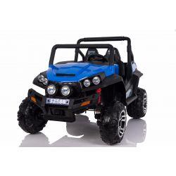 Zánovné elektrické autíčko RSX Modré, Pohon 4x4, 2x12V, EVA kolesá, široké dvojmiestne čalúnené sedadlo, 2,4 GHz DO, 4 X MOTOR, Dvojmiestne, FM Radio, Bluetooth